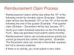 reimbursement claim process