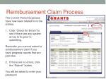 reimbursement claim process20