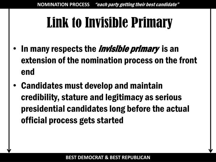 key republicans in invisible primary