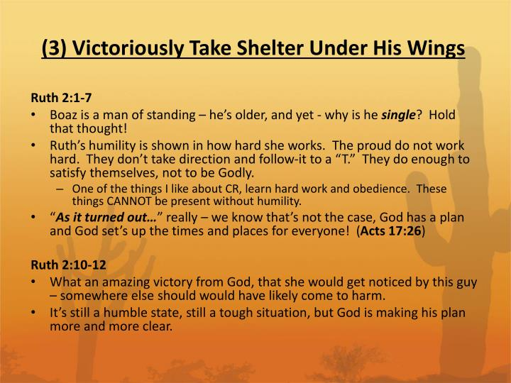 (3) Victoriously