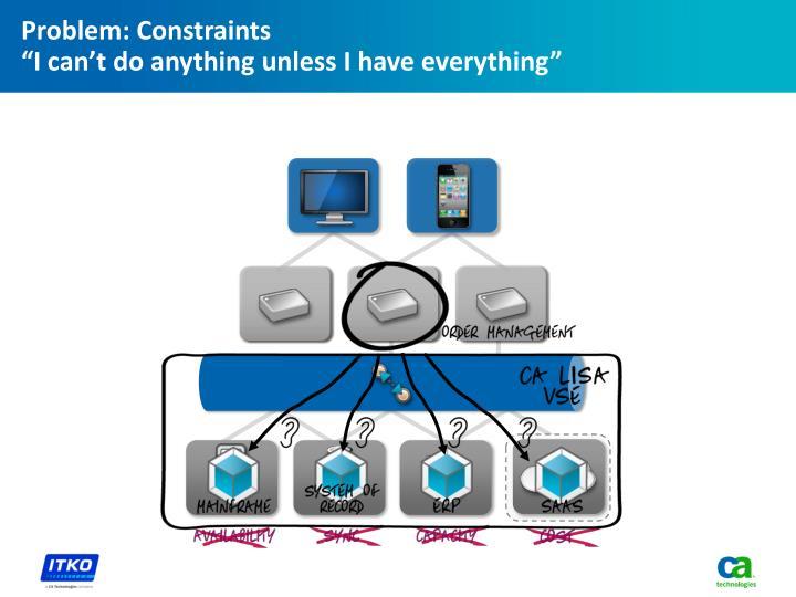 Problem: Constraints