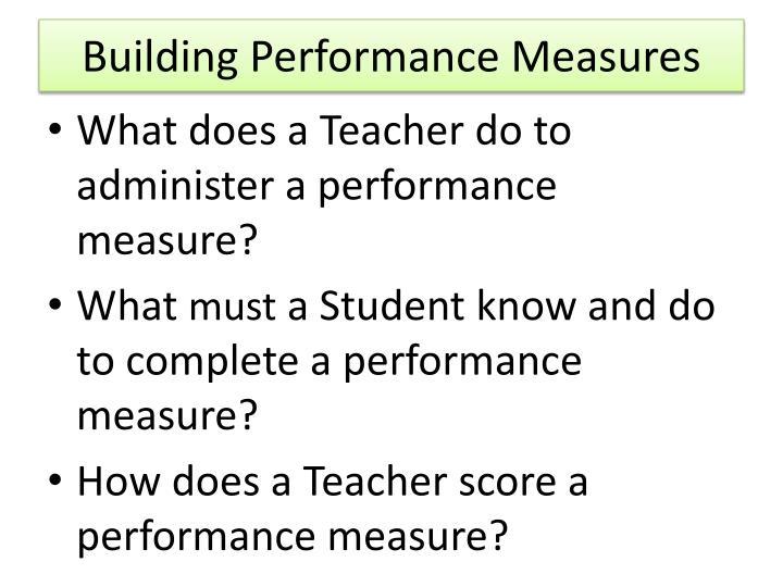 Building Performance Measures