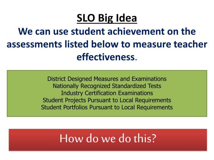 SLO Big Idea