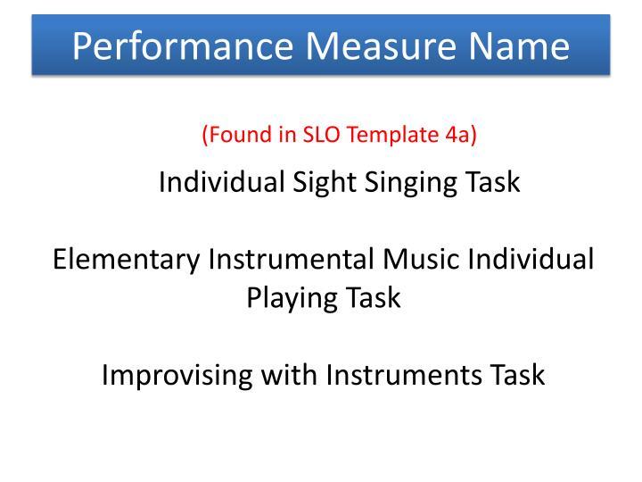 Performance Measure Name