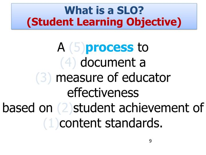 What is a SLO?