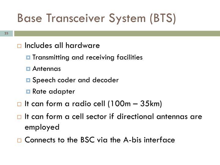 Base Transceiver System (BTS)