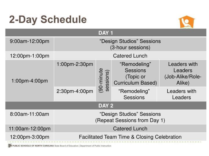 2-Day Schedule
