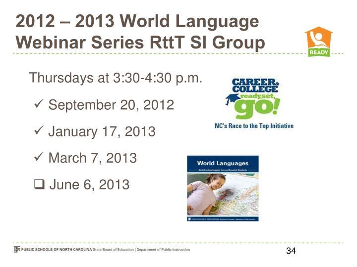 2012 – 2013 World Language