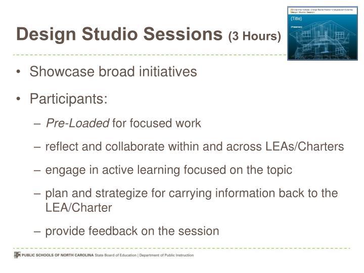 Design Studio Sessions