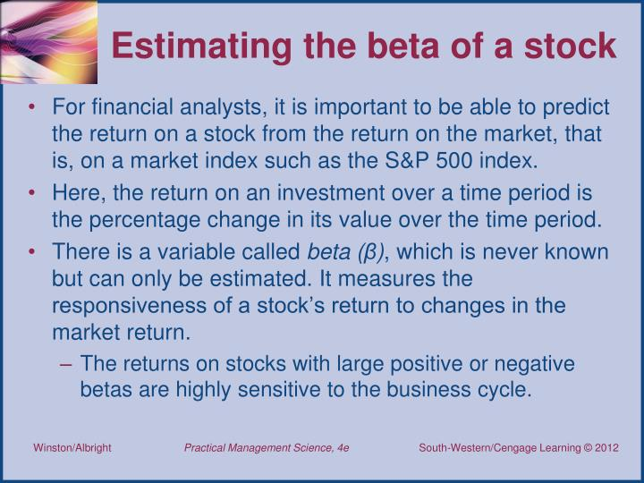 Estimating the beta of a stock