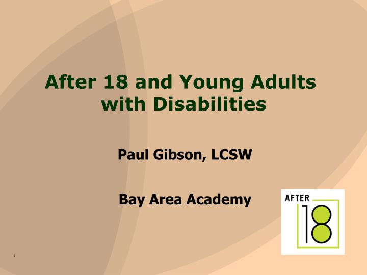 after 18 and young adults with disabilities n.