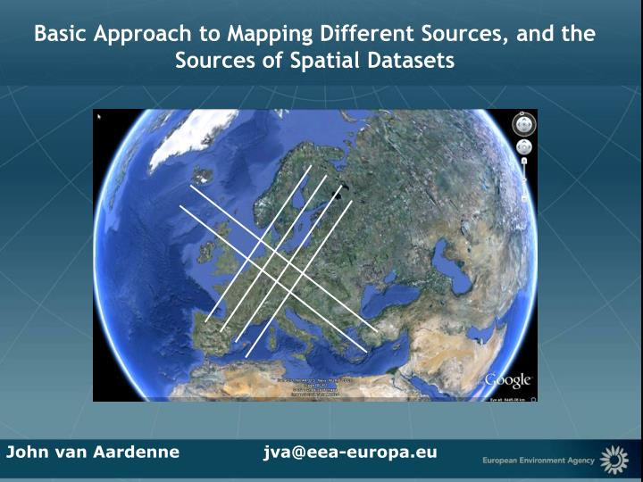 Basic approach to mapping different sources and the sources of spatial datasets