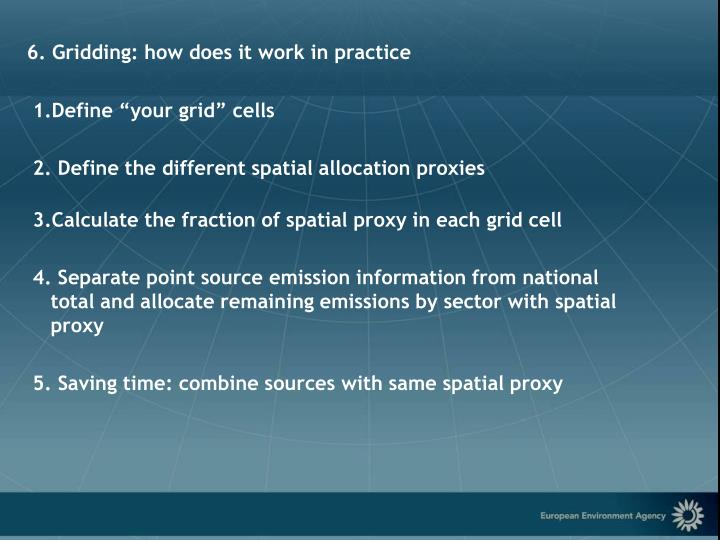 6. Gridding: how does it work in practice