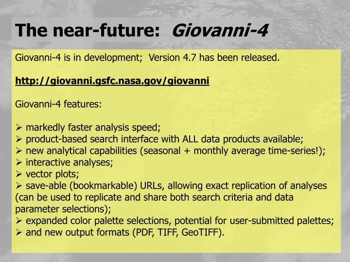 The near-future: