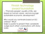 finnish technology award foundation