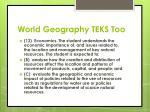 world geography teks too