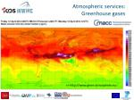 atmospheric services greenhouse gases
