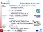 european c arbon projects