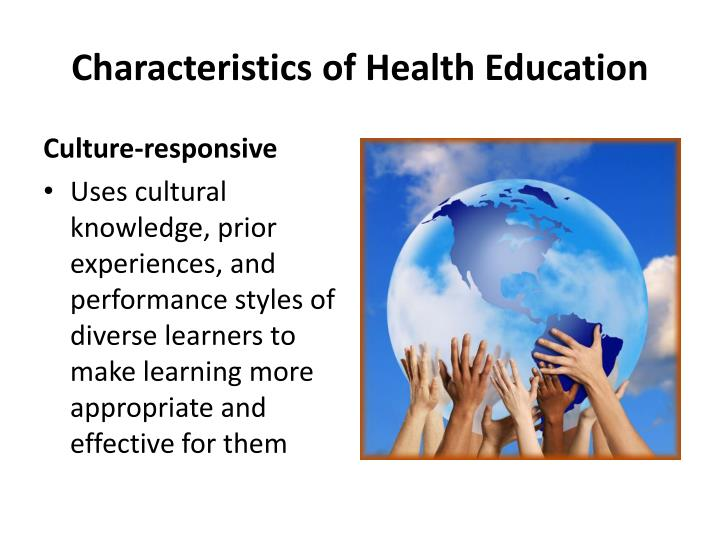 Characteristics of Health Education