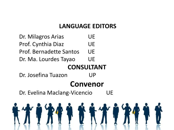 LANGUAGE EDITORS