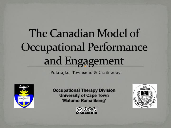 the canadian model of occupational performance and engagement n.