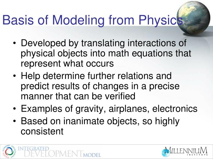 Basis of Modeling from Physics