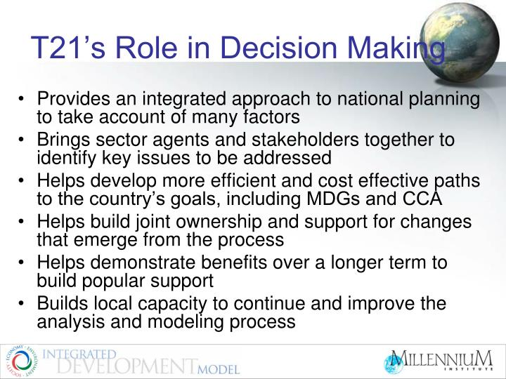 T21's Role in Decision Making