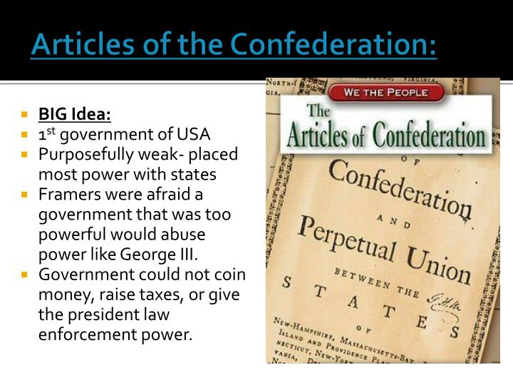 Articles of the Confederation: