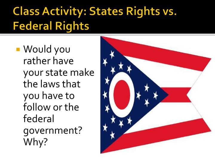 Class Activity: States Rights vs. Federal Rights