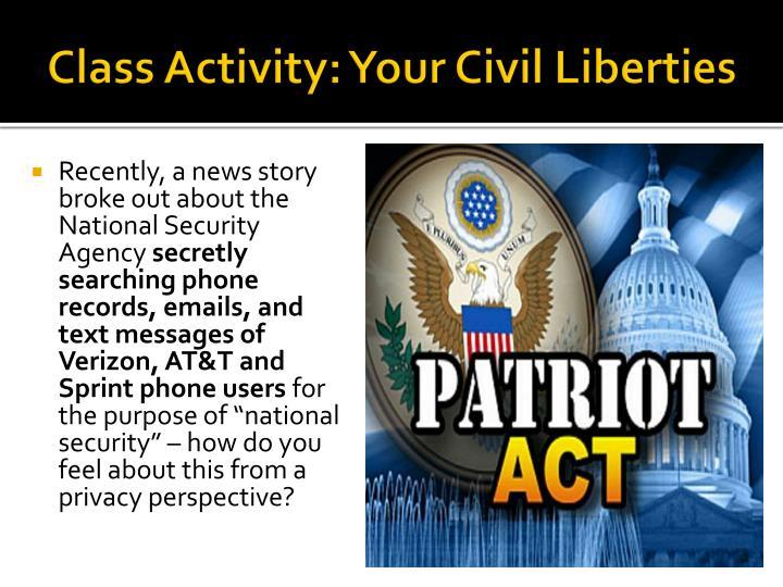 Class Activity: Your Civil Liberties