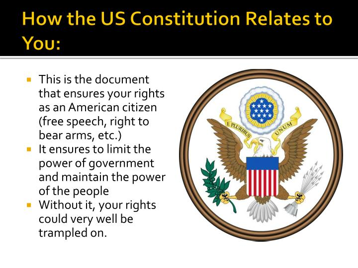 How the US Constitution Relates to You: