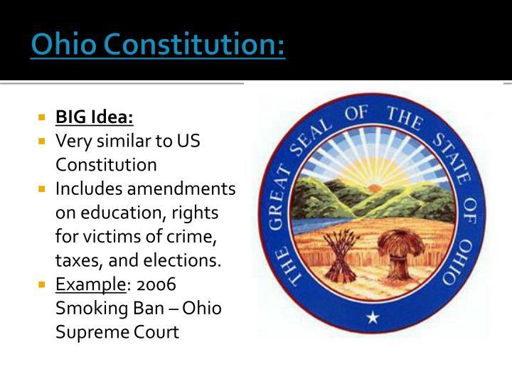 Ohio Constitution: