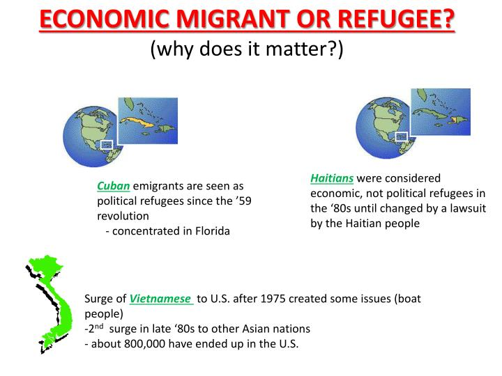 ECONOMIC MIGRANT OR REFUGEE?