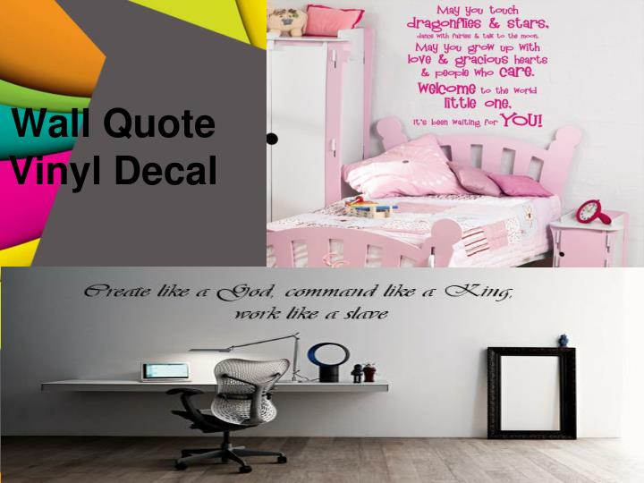 wall quote vinyl decal n.