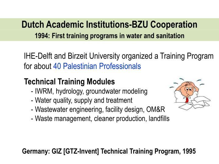 Dutch Academic Institutions-BZU