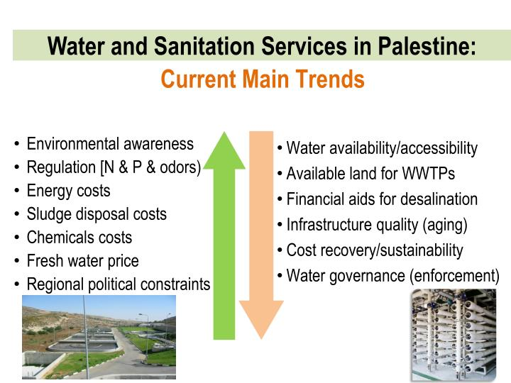 Water and sanitation services in palestine