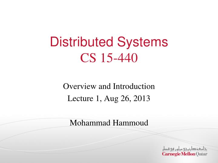 Ppt Distributed Systems Cs 15 440 Powerpoint Presentation Free Download Id 1538218
