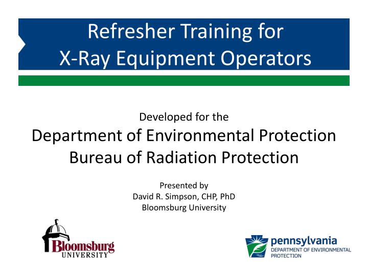 developed for the department of environmental protection bureau of radiation protection n.
