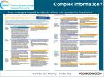 complex information