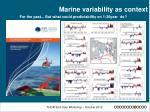 marine variability as context