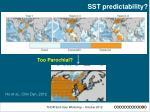 sst predictability
