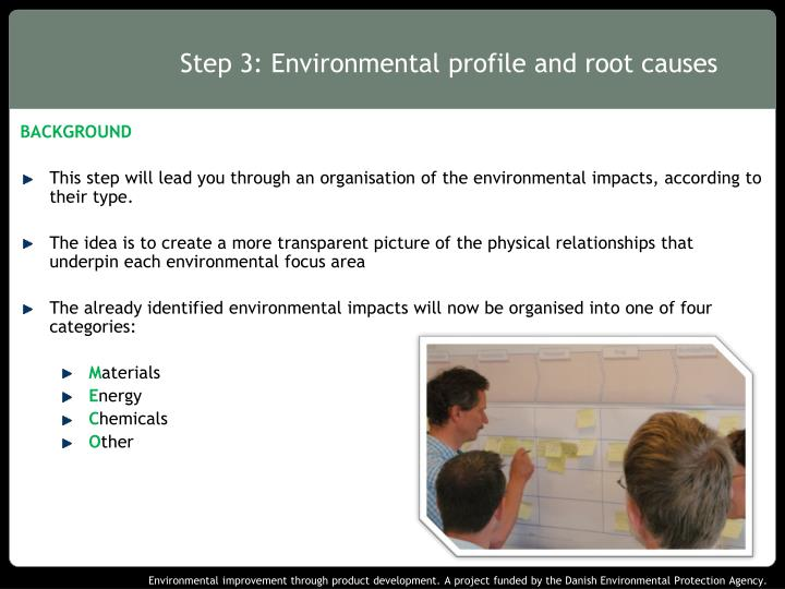 Step 3 environmental profile and root causes
