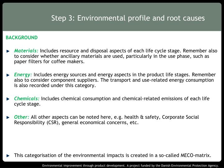 Step 3 environmental profile and root causes1