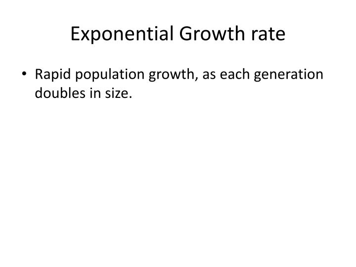 Exponential Growth rate