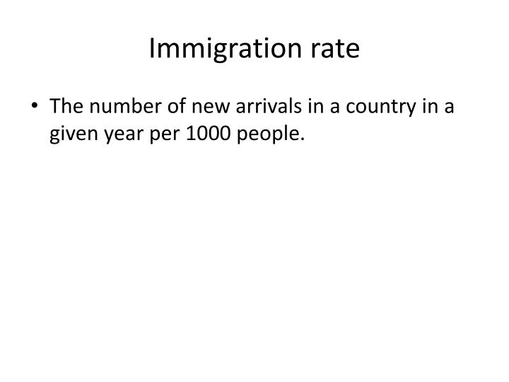 Immigration rate
