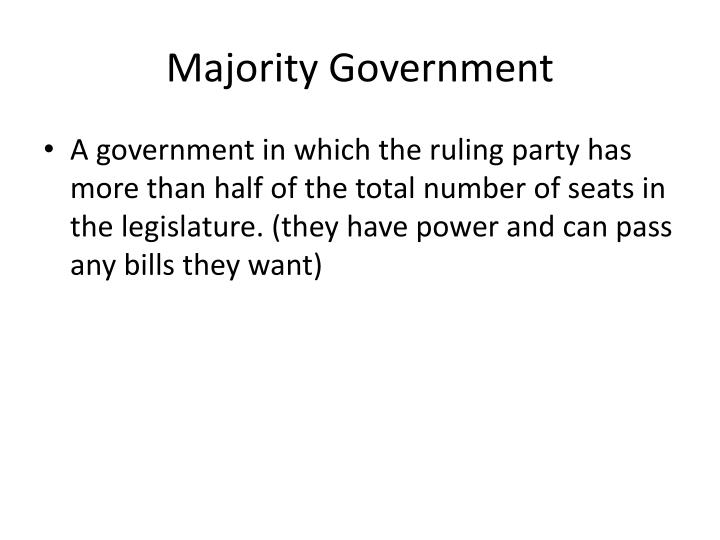 Majority Government