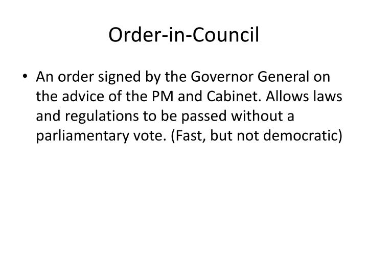 Order-in-Council