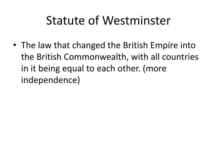 Statute of Westminster