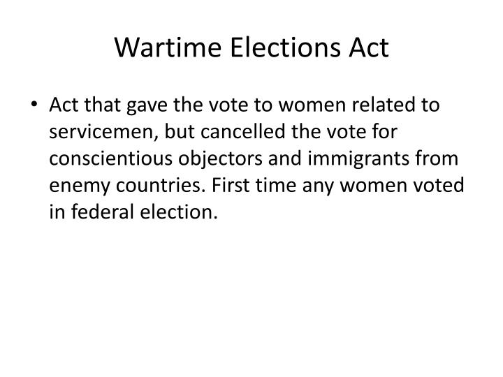 Wartime Elections Act