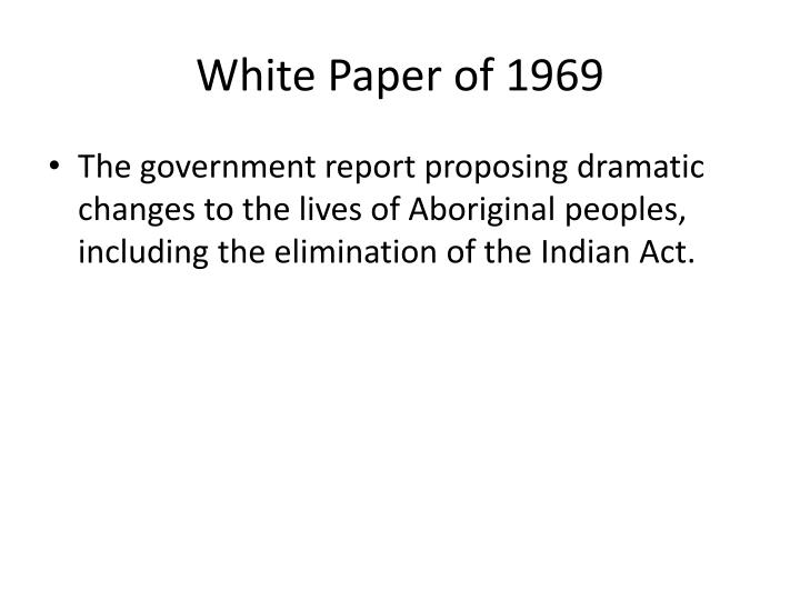 White Paper of 1969